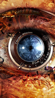 Mechanical Eye Steampunk Mobile HD Wallpaper