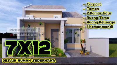 Desain Rumah Sederhana Tampilan Simple Menarik Ukuran 7x12 ...