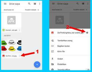 nonaktifkan link aktif di drive google