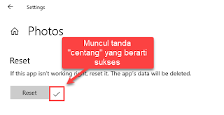 cara reset aplikasi di windows 10
