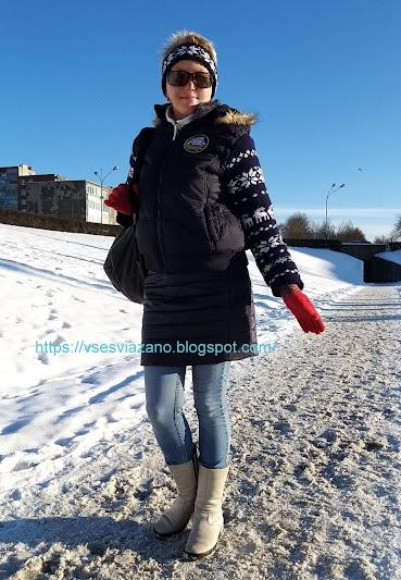 Идеи для будущей зимы: вязаная отделка для готовой куртки или жилета. В закладки!
