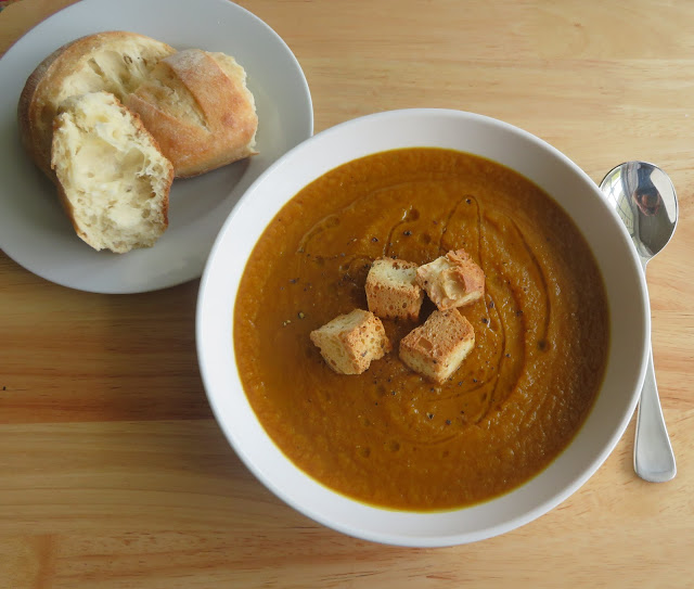 Curry Roasted Root Vegetable Soup