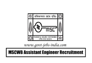 MSCWB Assistant Engineer Recruitment 2020