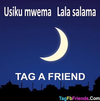 Good Night in Swahili language