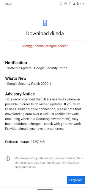 Nokia 2.2 receiving November 2020 Android Security patch