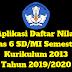 Aplikasi Daftar Nilai Kelas 6 SD/MI Semester 1 Kurikulum 2013 Tahun 2019/2020 - Ruang Lingkup Guru