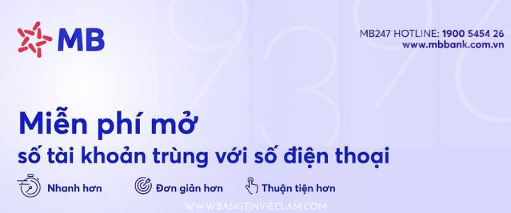 Mở tài khoản MBBank online - Miễn phí trọn đời
