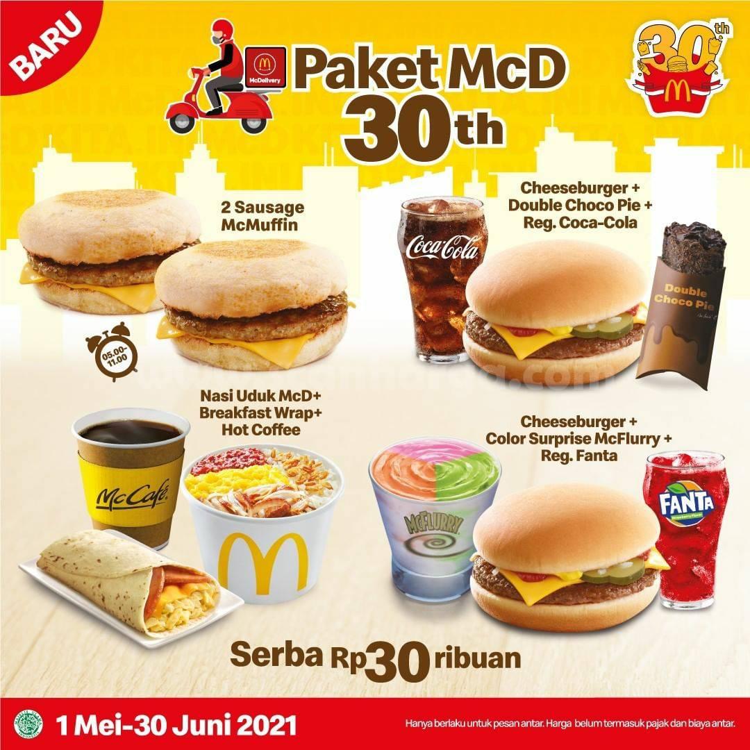 Promo McDonalds Paket Baru McD 30th - Serba Rp 30Ribuan