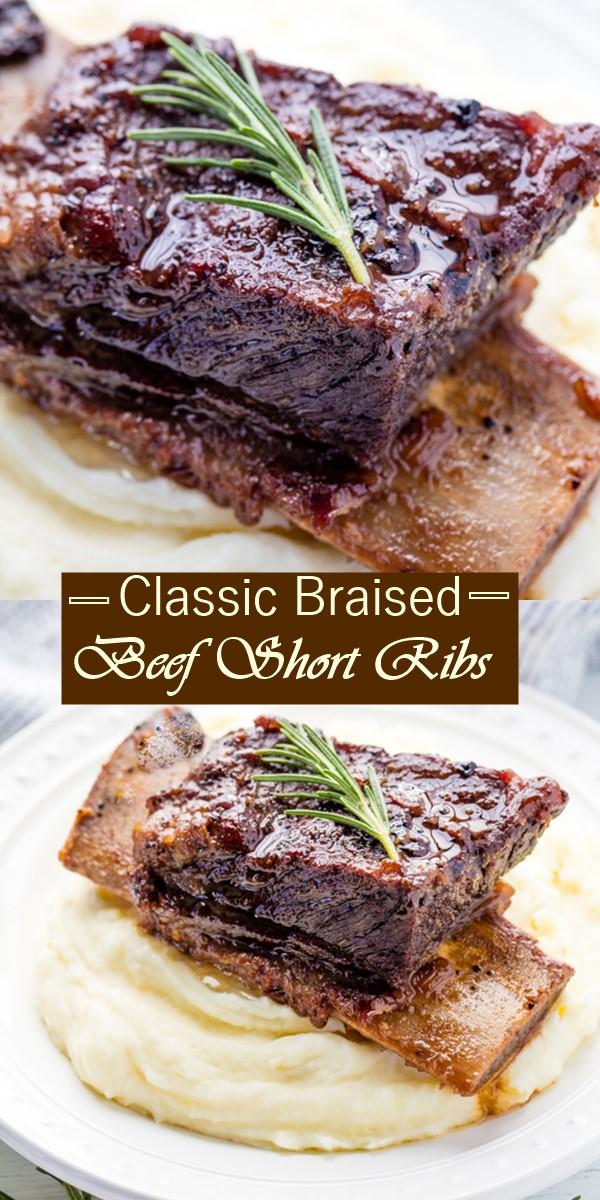 Classic Braised Beef Short Ribs #Dinnerrecipes