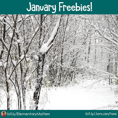 January Freebies!  Here are five different freebies that can be used in your elementary classroom during the month of January!