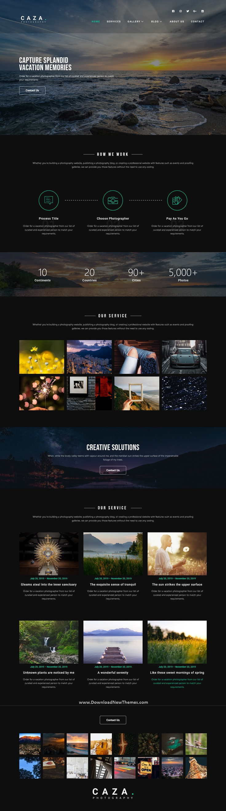 Photography Studio Elementor Template Kit
