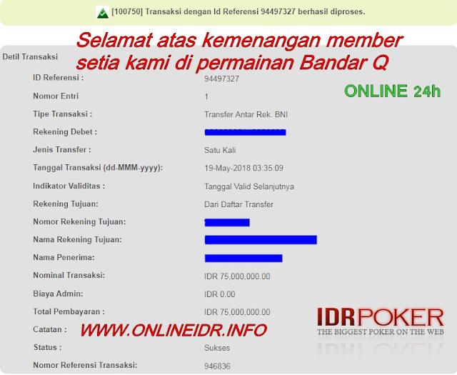 Menang Puluhan Juta Bermain Bandar Q Online di Agen Poker Terpercaya - IDRPoker