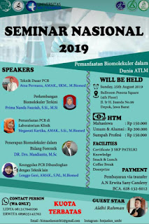 Seminar Nasional HIMA Universitas MH Thamrin 2019  Pemanfaatan Biomolekuler dalam Dunia ATLM