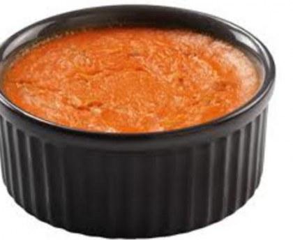 Tomato and basil flan