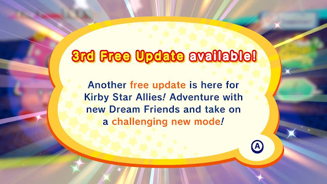 Kirby Star Allies wave 3 3rd free update available Nintendo Switch