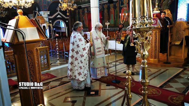Αρχιερατική Θεία Λειτουργία στον εντελώς άδειο ναό της Ευαγγελίστριας στο Ναύπλιο