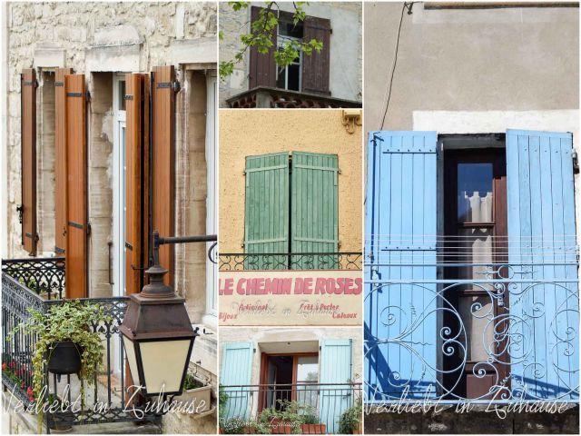 Haustür Dekoration Barjac und Bagnol Frankreich