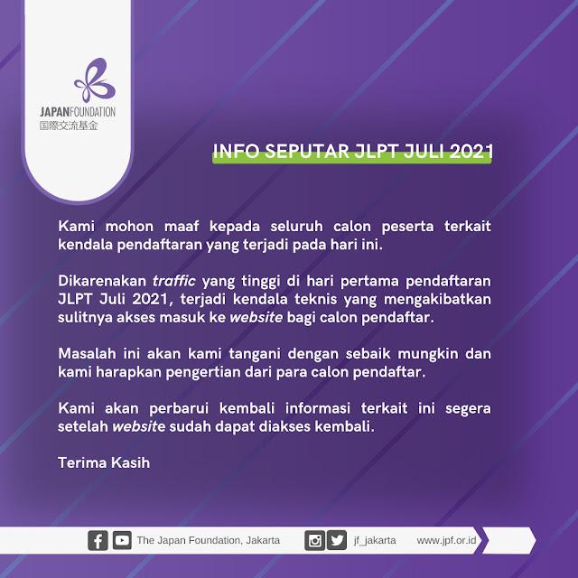 alasan JLPT Indonesia tidak bisa dibuka