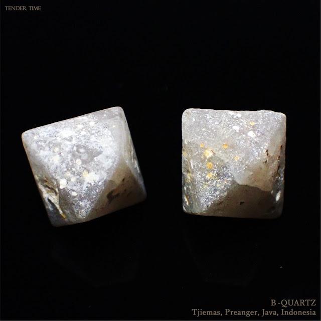 ベータ石英 高温石英 高温型石英 β水晶 B-QUARTZ Tjiemas, Preanger, Java, Indonesia