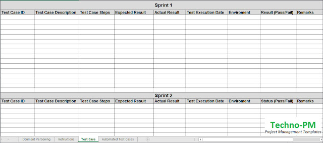 Test case document template