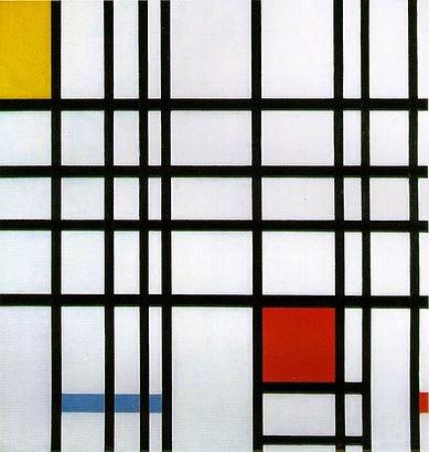 Composição com Amarelo, Azul e Vermelho - Piet Mondrian e Suas Pinturas | Criador do Neoplasticismo