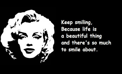 """Marilyn Monroe Quotes About Smiling"""
