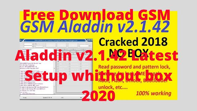 Free Download GSM Aladdin v2.1.42 Latest Setup without box 2020