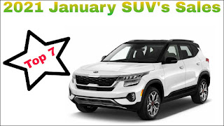 Top 7 Selling SUV in January in India 2021