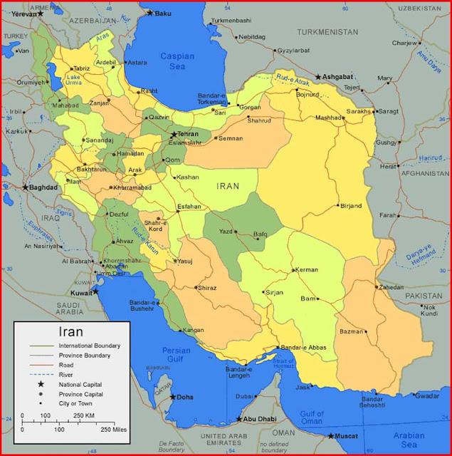 Gambar Peta Iran