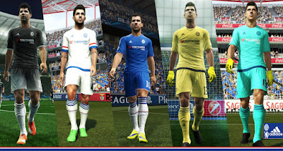 PES 2013 Chelsea Official 2015-16 Kits By Abdallah El Ghamry
