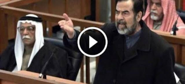 """بعد 8 سنوات.. آخر ما قاله صدام حسين """"النبوءة تتحقق"""" !! لخص حياته كلها بتلك الكلمات الاخيرة"""