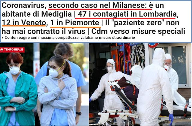 فيروس كورونا: تأكيد إصابتين في ميلانو وارتفاع عدد الموضوعين في العزل الطبي إلى 47 حالة في لومبارديا