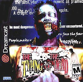 The Typing of the Dead Sega Dreamcast horror game cover art