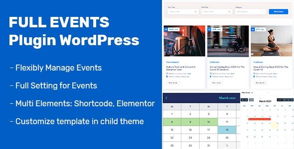 FullEvents v1.0.0 - Event Plugin WordPress
