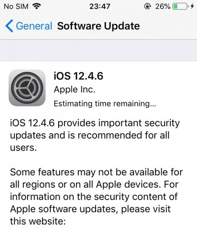 iOS 12.4.6 Features