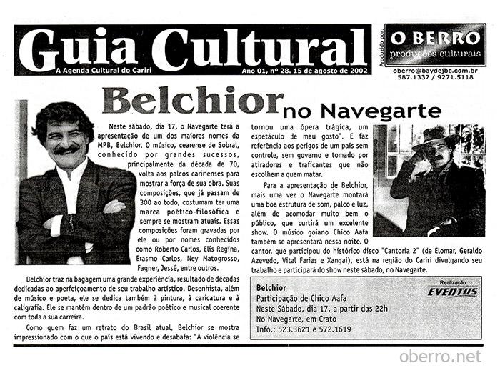 Guia Cultural O Berro - Edição 28, de 15 de agosto de 2002