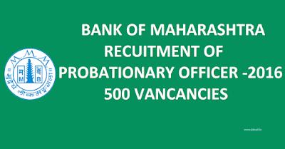 Career in bank of  Maharashtra,  Maharashtra bank Jobs