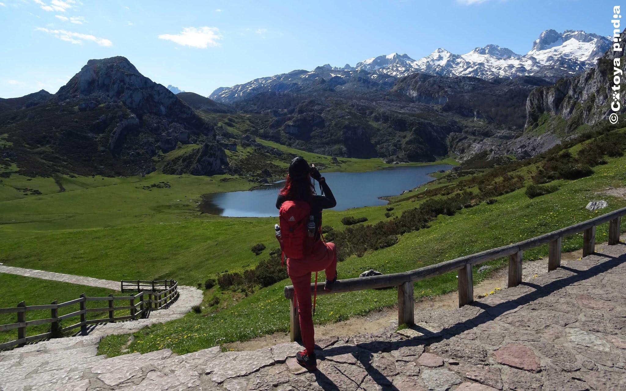 Circular por los Lagos de Covadonga en el Parque Nacional de los Picos de Europa.