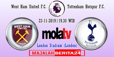 Prediksi West Ham United vs Tottenham Hotspur — 23 November 2019
