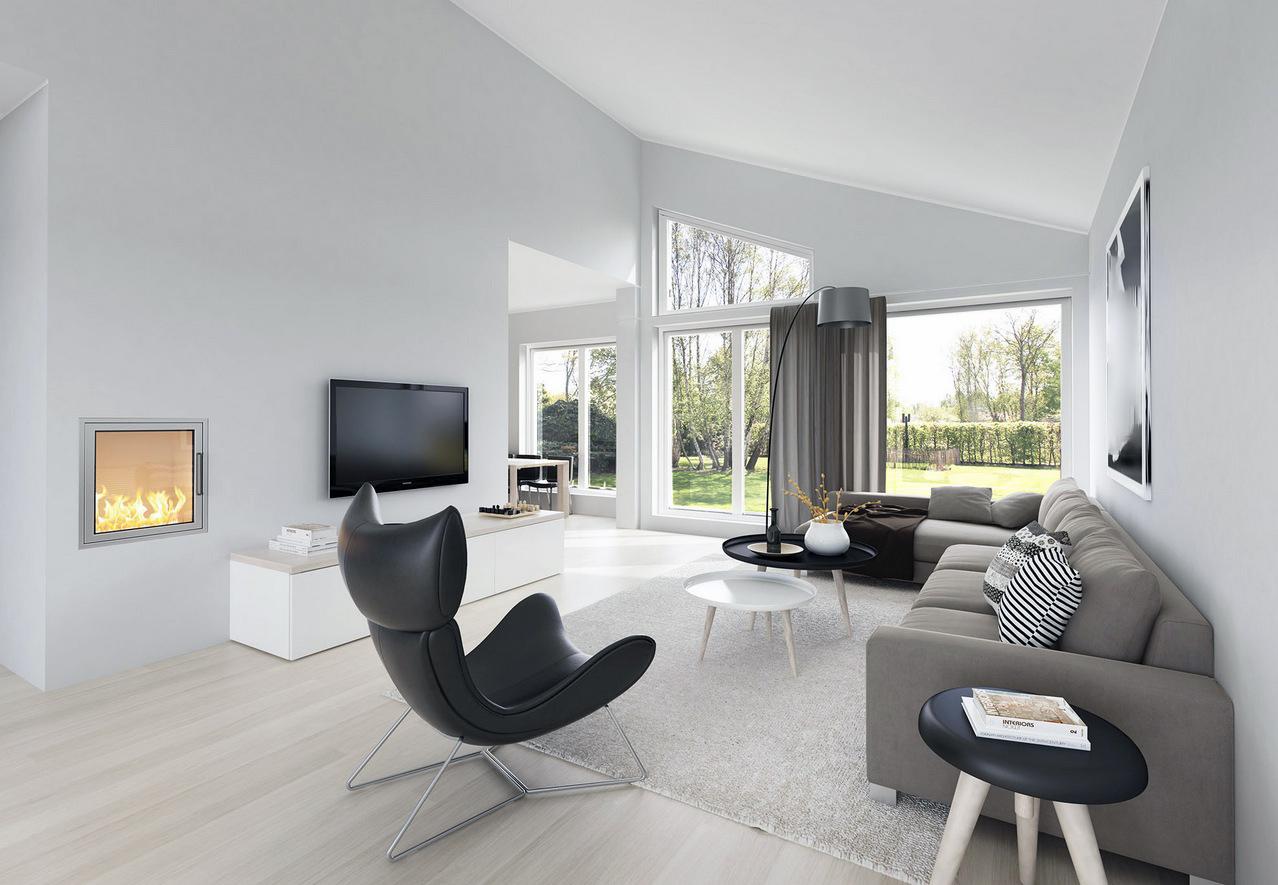 Romslig moderne stue interiør   interiør inspirasjon