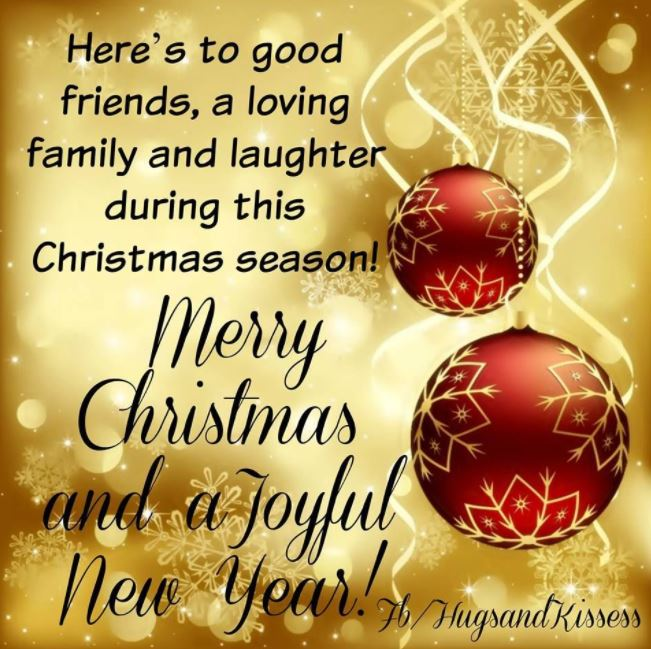 Merry Christmas and a Joyful Happy New Year Wishes Greetings