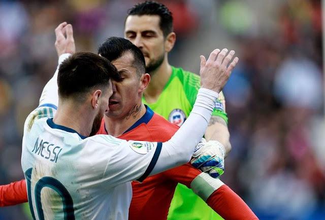 Detalles del encuentro Medel vs Messi