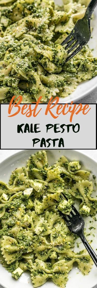 Kale Pesto Pasta #vegan #recipevegetarian