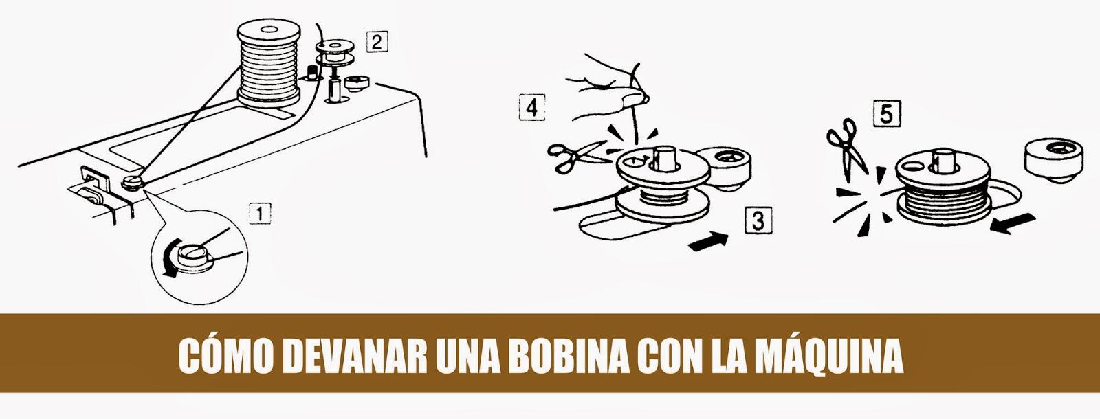 Coser a máquina: Devanado de bobina (carrete) - Coser es fácil
