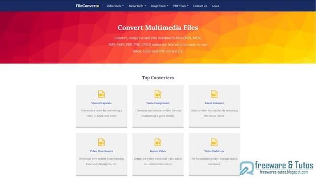 FileConverto : une multitude d'outils en ligne de conversion et édition de fichiers