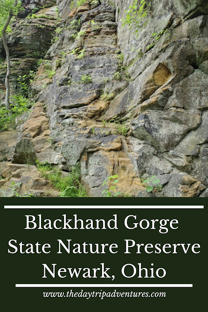Pinnable Image for an article about Blackhand Gorge in Newark, Ohio