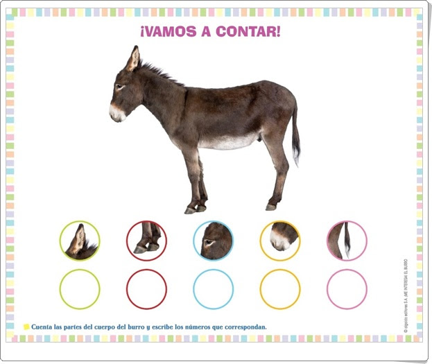 """Proyecto de Educación Infantil de 3 años """"El burro"""" (Colección """"¡Me interesa!"""" de Editorial Algaida)"""
