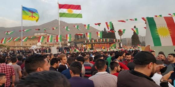 عيد النوروز بمدينة دهوك بإقليم كوردستان