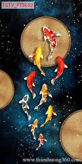 Tranh nghệ thuật Cửu ngư quần hội