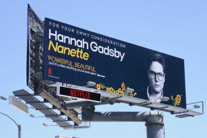 Hannah Gadsby Nanette Emmy consideration billboard